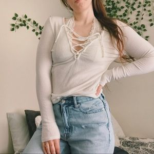 Urban Outfitters Project Social T Lace Up Top